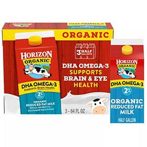 Horizon Organic Reduced Fat Milk (half gallon, 3 ct.)