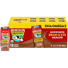 Horizon Organic Chocolate Milk  (8 oz., 18 pk.)