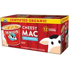 Horizon Organic Cheesy Mac, Mild Cheddar (2.1 oz. cup, 12 ct.)