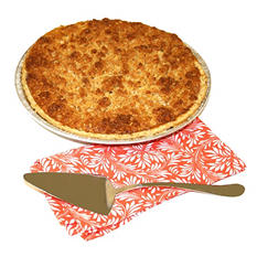 """Daily Chef 12"""" Apple Caramel Streusel Pie (Case of 8 pies)"""