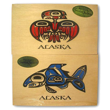 Alaska Jack's Wood Box Alder Smoked Salmon - 2 pk.