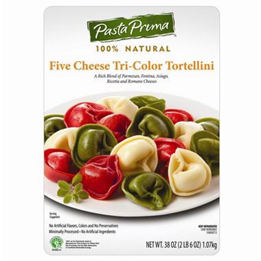5 Cheese Tri Color Tortellini - 38 oz.
