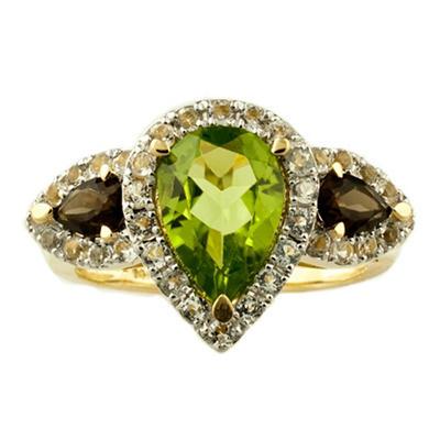 Peridot Pear Shaped Ring