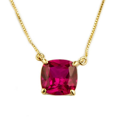 1.81 ct. Lab-Created Ruby Pendant in 14k Yellow Gold
