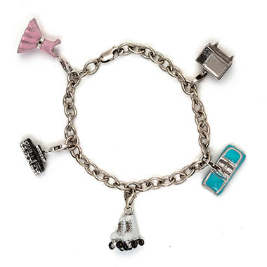 1950's Charms of the Decade Sterling Silver Bracelet