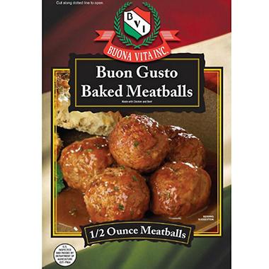 Buon Gusto Baked Meatballs - 5 lbs.