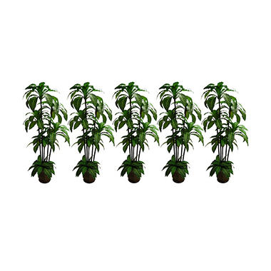 Faux Bird's Nest Trees in Metal Containers (Set of 5)