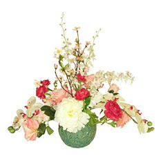 "24"" Mixed Floral Arrangement in Decorative Ceramic Container"