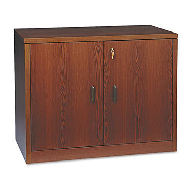 "HON - 10500 Series Storage Cabinet With Doors, 20"" - Mahogany"