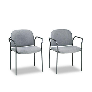 HON - Multipurpose Stacking Arm Chairs, 2 Pack - Various Colors