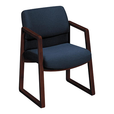 HON - 2400 Series Guest Arm Chair, Mahogany Finish - Various Colors