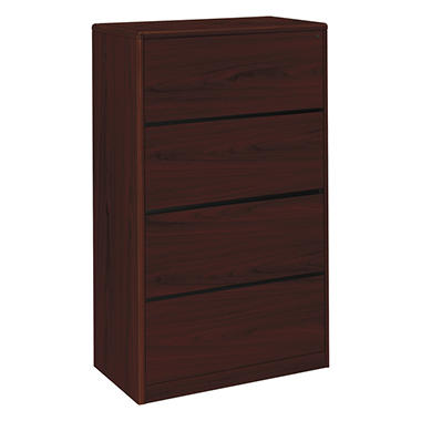 "HON - 10700 Series Lateral File Cabinet, 4-Drawer, Letter/Legal, 20"" - Mahogany"