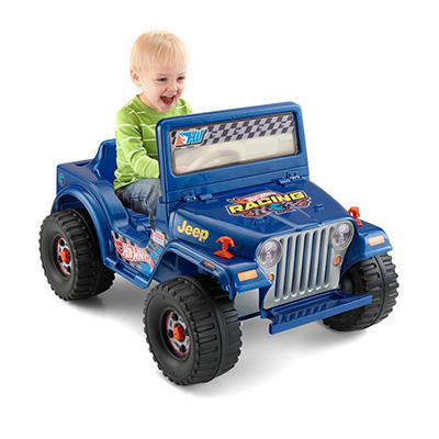 6v Power Wheels Hot Wheels Blue Jeep
