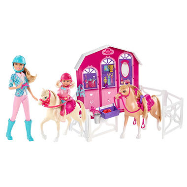 Barbie Sisters Deluxe Stable Gift Set
