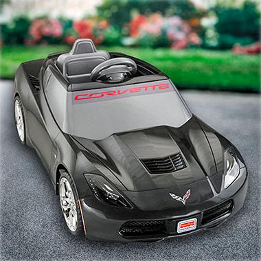 12v Power Wheels Black Corvette, Original Price $189.98, Save $60.00