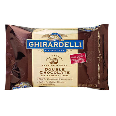 Ghirardelli® Double Chocolate Baking Chips - 3 lbs