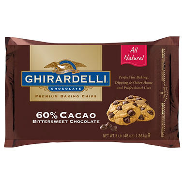 Ghirardelli® 60% Cacao Baking Chips - 3 lbs.