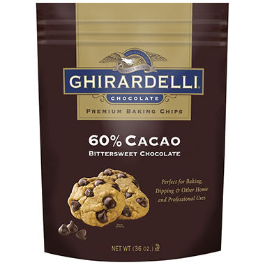 Ghirardelli 60% Cacao Bittersweet Chocolate Chips - 36 oz.