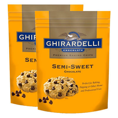 Ghirardelli Semi Sweet Baking Chips (36 oz., 1 pk.)