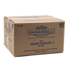 Ghirardelli Sweet Ground Chocolate - 30 lbs.