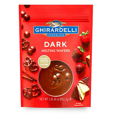 Melting ghirardelli chocolate