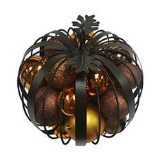 Iron Pumpkin with Ornaments