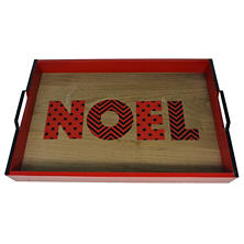 Holiday Time Oversized Handcrafted Christmas Tray - Noel