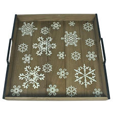 Oversized Handcrafted Christmas Tray - Snowflake