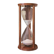 Wood Hourglass Décor, Brown