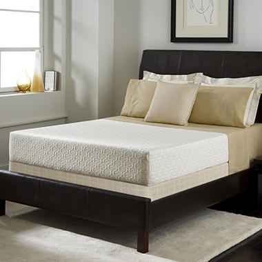 "Serta Roma Premium Memory Foam 10"" Mattress Set - Twin XL"