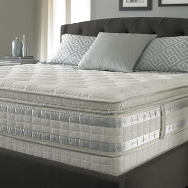 Perfect Day iSeries by Serta Ceremony Super Pillowtop Low Profile Mattress Set – Queen