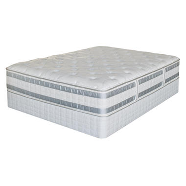 Perfect Day iSeries by Serta Applause Plush Split Low Profile Mattress Set ? Queen
