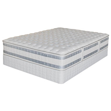 Perfect Day iSeries by Serta Applause Firm Low Profile Mattress Set - Queen