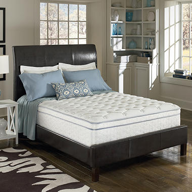 King Serta Perfect Sleeper Euro Pillowtop Bed Mattress Sale
