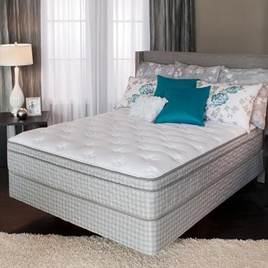 Serta Perfect Sleeper Castle Valley Plush Eurotop Mattress Set - Queen