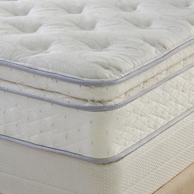 Perfect Sleeper Hinsdale Plush Pillowtop Mattress Set - Queen