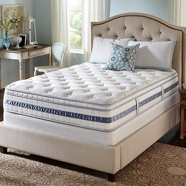 Serta Perfect Sleeper Kennison Cushion Firm Eurotop Mattress Set - Full