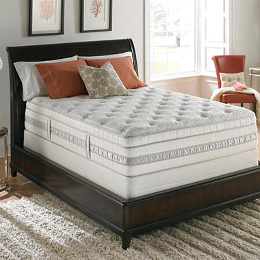 Serta Perfect Sleeper Meadowfield Plush Mega Eurotop Mattress Set - Twin