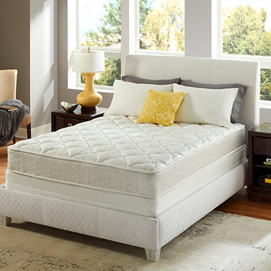 Sertapedic Belden Plush Mattress Set - Twin