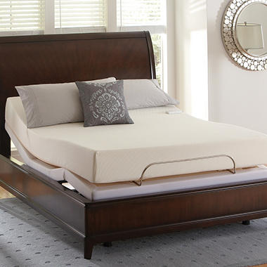 "Serta Perfect Elements Baylor Memory Foam 8"" Adjustable Foundation Mattress Set - Twin XL"