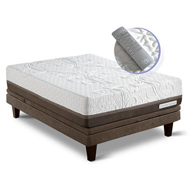 Serta iComfort Directions Inception Motion Custom Adjustable Foundation Mattress Set - Queen
