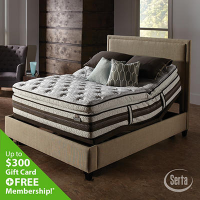 iSeries Profiles Caliber Super Pillowtop Motion Signature Adjustable Foundation Mattress Set - Cal King