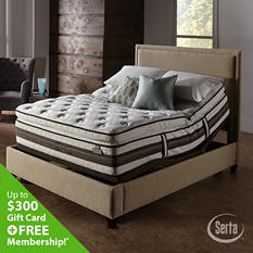 iSeries Profiles Honoree Super Pillowtop Motion Signature Adjustable Foundation Mattress Set - King