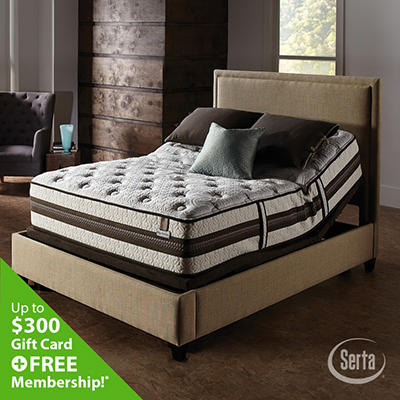 iSeries Profiles Honoree Cushion Firm Motion Signature Adjustable Foundation Mattress Set - King