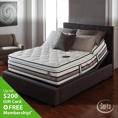 iSeries Approval Super Pillowtop Motion Signature Adjustable Foundation Mattress Set - Queen