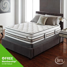 iSeries Merit Super Pillowtop Low Profile Mattress Set - King