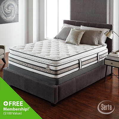 iSeries Merit Super Pillowtop Low Profile Mattress Set - Queen