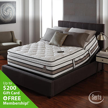 iSeries Merit Super Pillowtop Motion Signature Adjustable Foundation Mattress Set - King