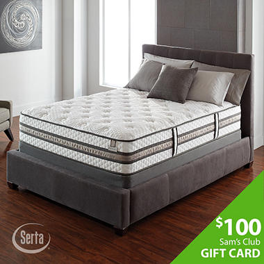 Serta iSeries Vantage Plush Low Profile Mattress Set - Queen
