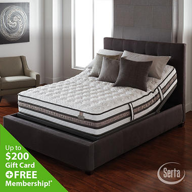 Serta iSeries Vantage Plush Motion Signature Adjustable Foundation Mattress Set - Full